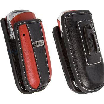 Krusell pouzdro Voguish M - černá/červená (95x55x25mm)
