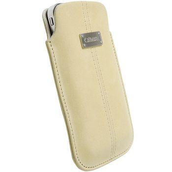Krusell pouzdro Luna Nubuck L - Galaxy S, iPhone 4/3GS, Desire/Z, Nok N8/C7 62x116x12mm (písková)