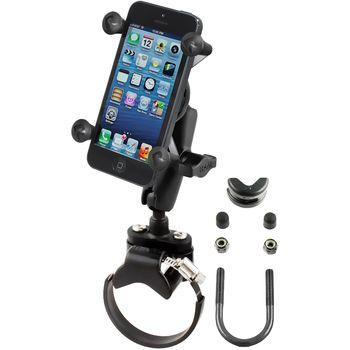 RAM Mounts univerzální držák na mobilní telefon na motorku nebo na kolo na řídítka, Ø objímky 12,7-31,75 a 40-80 mm, X-Grip, sestava RAM-B-149Z-2-UN7BU
