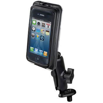 RAM Mounts univerzální vodotěsný držák na malé telefony, AQUABOX® Pro 10 s úchytem na motorku na řídítka do středu vidlice, sestava RAM-B-176-AQ7-1CU