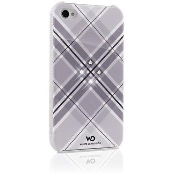 White Diamonds kryt Grid pro Apple iPhone 4/4S - bílá