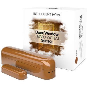 Fibaro bateriový Senzor (magnetický kontakt) na okna a dveře, hnědý
