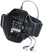 Nokia originální sportovní pouzdro CP-402, univerzální, černá/limetková