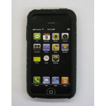 Silikonové pouzdro ST - Apple iPhone černé