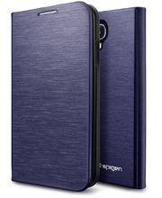 Spigen flipové pouzdro Slim Wallet pro Galaxy S4, modrá