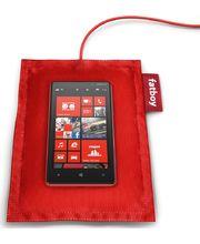 Nokia polštářek (Fatboy) pro bezdrátové dobíjení DT-901 - Nokia Lumia 920/820, červená