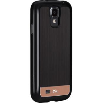 Case Mate ochranné pouzdro Brushed Aluminum pro Samsung Galaxy S4, černo-růžová