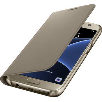 Samsung flipové pouzdro s kapsou EF-WG930PF pro Galaxy S7, zlaté