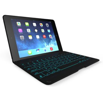 ZAGGkeys Folio Black with Black Backlit Keyboard - Apple iPad Air - EN