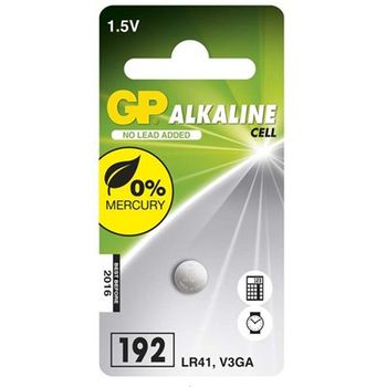 Baterie GP LR41 / GP192 / V3GA, knoflíková 1ks