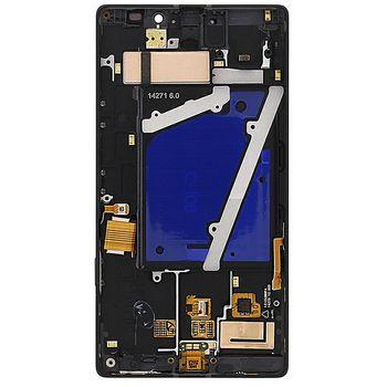 Náhradní díl LCD displej + dotyková deska + přední kryt  pro Nokia Lumia 930, černý