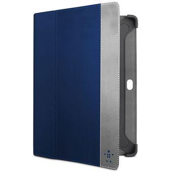 Belkin Cinema Strip Folio pouzdro pro Samsung Galaxy Tab 2 10.1, modrá kůže/semiš (F8M392cwC01)