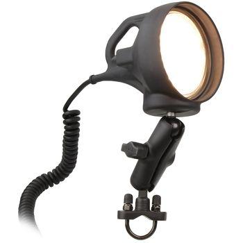 RAM Mounts LED lampa s pozinkovanou objímkou pro průměr 12,7 - 31,75 mm, sestava RAM-B-152R