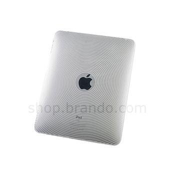 Pouzdro plastové Brando s kruhovým vzorem - Apple iPad (bílá)