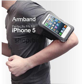 Brando sportovní pouzdro na ruku pro Apple iPhone 5/5S/5C/SE, černé