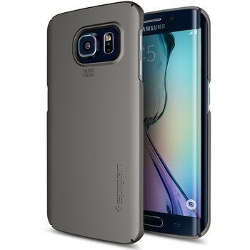 Spigen pouzdro Thin Fit pro Samsung Galaxy S6 edge, kovově šedá