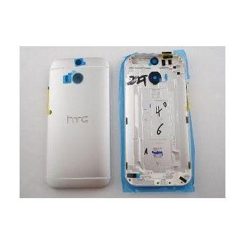 HTC zadní kryt pro ONE M8, stříbrný