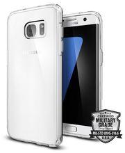 Spigen tenký kryt Ultra Hybrid pro Galaxy S7, průhledné