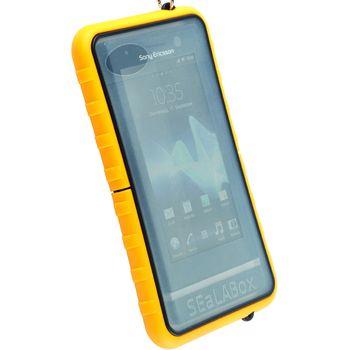Krusell pouzdro vodotěsné SEaLABox L - univerzální do rozm. 116x59x15mm (žlutá)