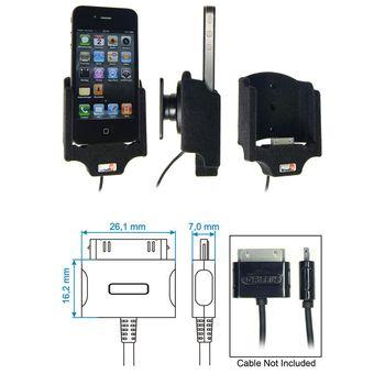 Brodit držák do auta Apple iPhone 4/4S pro připojeni Griffin PowerJolt cable, sametový povrch