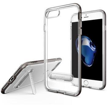 Spigen ochranný kryt Crystal Hybrid pro iPhone 7 plus, kovově šedá