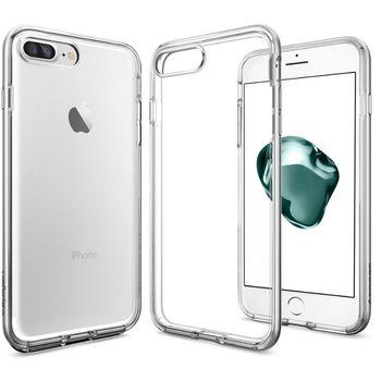 Spigen ochranný kryt Neo Hybrid Crystal pro iPhone 7 plus, stříbrná