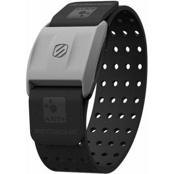 Scosche RHYTHM+ měřič tepu a sporttester pro Android a iOS na předloktí, HR monitor, černý pásek