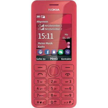Nokia 206 Dual SIM růžová