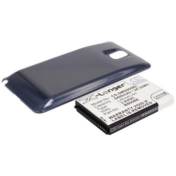 Baterie pro Samsung Galaxy Note 3 rozšířená včetně modrého krytu 6400mAh Li-ion