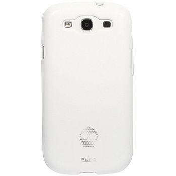 PURO silikonové pouzdro Skull pro Samsung Galaxy S III - bílá