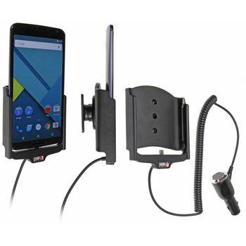 Brodit držák do auta na Motorola Nexus 6 bez pouzdra, s nabíjením z cig. zapalovače