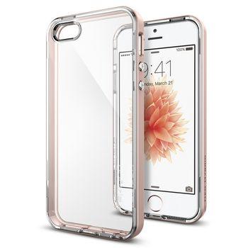 Spigen pouzdro Neo Hybrid Crystal pro iPhone SE/5s/5, růžová