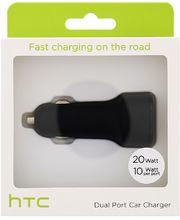 HTC rychlá duální autonabíječka CC C700, 20W, 2A, černá