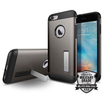 Spigen pouzdro Slim Armor pro iPhone 6S, kovově šedé