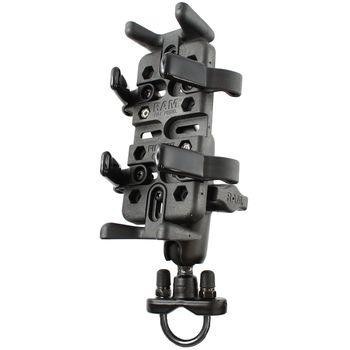RAM Mounts univerzální držák na mobilní telefony, vysílačky, GPS navigace Finger-Grip na motorku nebo na kolo na řídítka, Ø objímky 12,7-31,75 mm, sestava RAM-B-149Z-UN4U