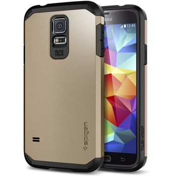 Spigen Tough Armor pouzdro pro Samsung Galaxy S5 Copper Gold, zlaté