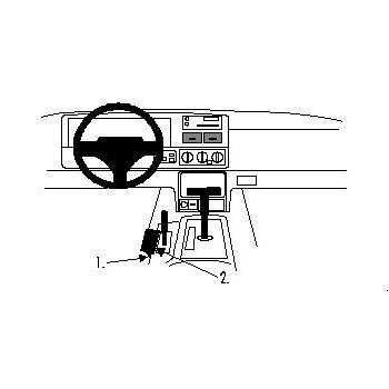 Brodit ProClip montážní konzole pro Jeep Grand Cherokee r.v. 96-98, na středový tunel