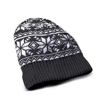 CELLY zimní čepice headphone cap s integrovanými sluchátky, konektor 3,5mm jack, černá