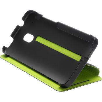 HTC flipové pouzdro se stojánkem Double Dip Flip HC V851 pro HTC One mini, černo zelené
