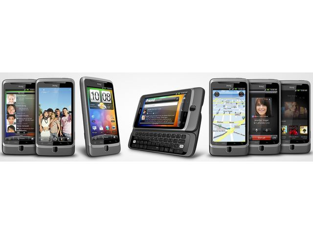 obsah balení HTC Desire Z + kožené pouzdro Brando ZDARMA