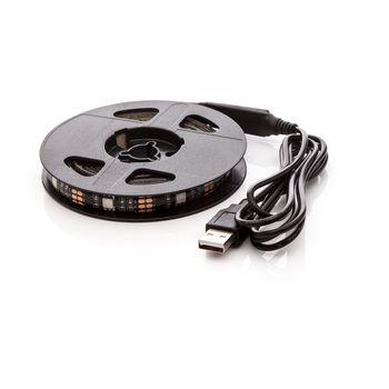 LED pásek 150cm, do USB, 45 diod, přepínač, 20 barev, samolepící