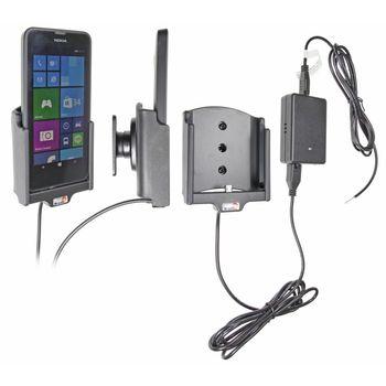 Brodit držák do auta na Nokia Lumia 630/630DS bez pouzdra, se skrytým nabíjením