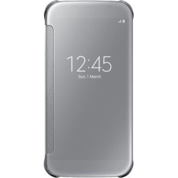 Samsung flipové pouzdro Clear View EF-ZG920BS pro Galaxy S6, stříbrná