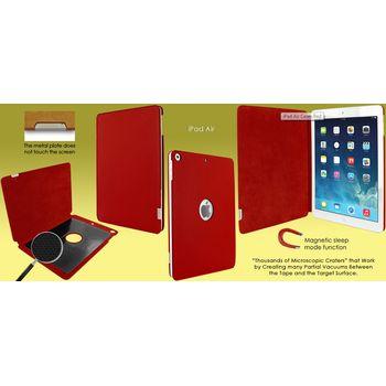 Piel Frama pouzdro pro iPad Air FramaSlim, Red, kvalitní kůže, ruční výroba, španělská manufaktura