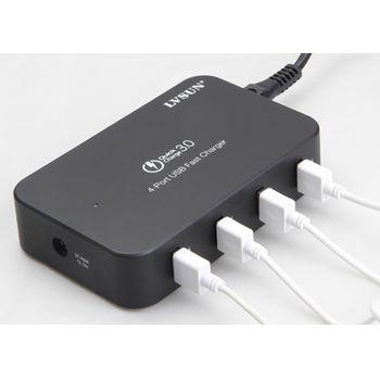 LVSUN multinabíječka 60W 10.2A, 4 USB porty