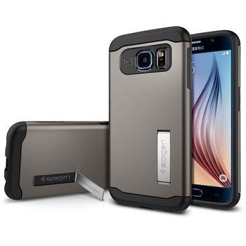 Spigen pouzdro Slim Armor pro Samsung Galaxy S6, šedá