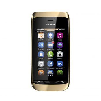 Nokia Asha 308 Dual SIM zlatá