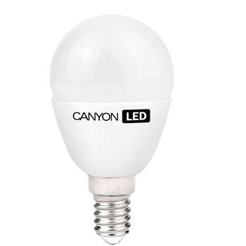 Canyon LED žárovka, (ekv. 25W) E14, kompakt kulatá, mléčná 3.3W, 250 lm,neutrální bílá 4000K