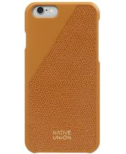Native Union Clic kožený kryt pro iPhone 6/6s, zlatý