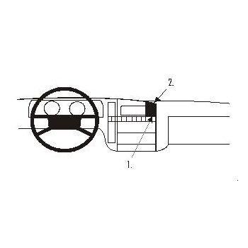 Brodit ProClip montážní konzole pro Opel Omega 87-93, na střed
